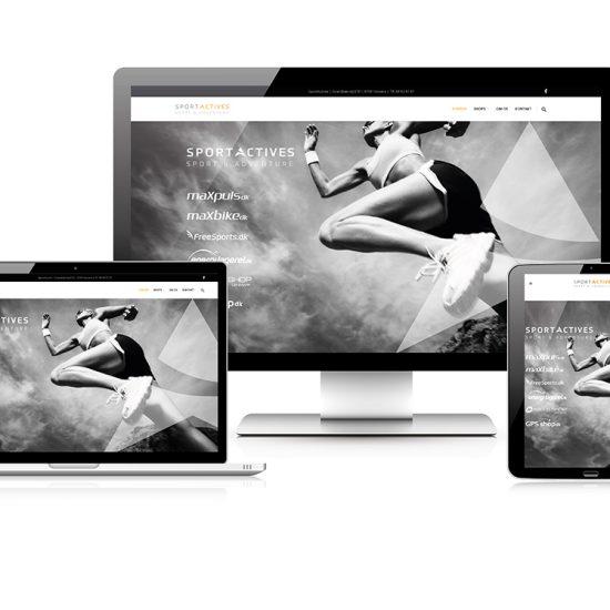 sportactives - design af responsiv hjemmeside