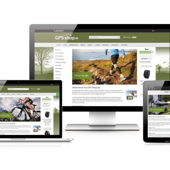 GPS-shop.dk - responsivt webdesign